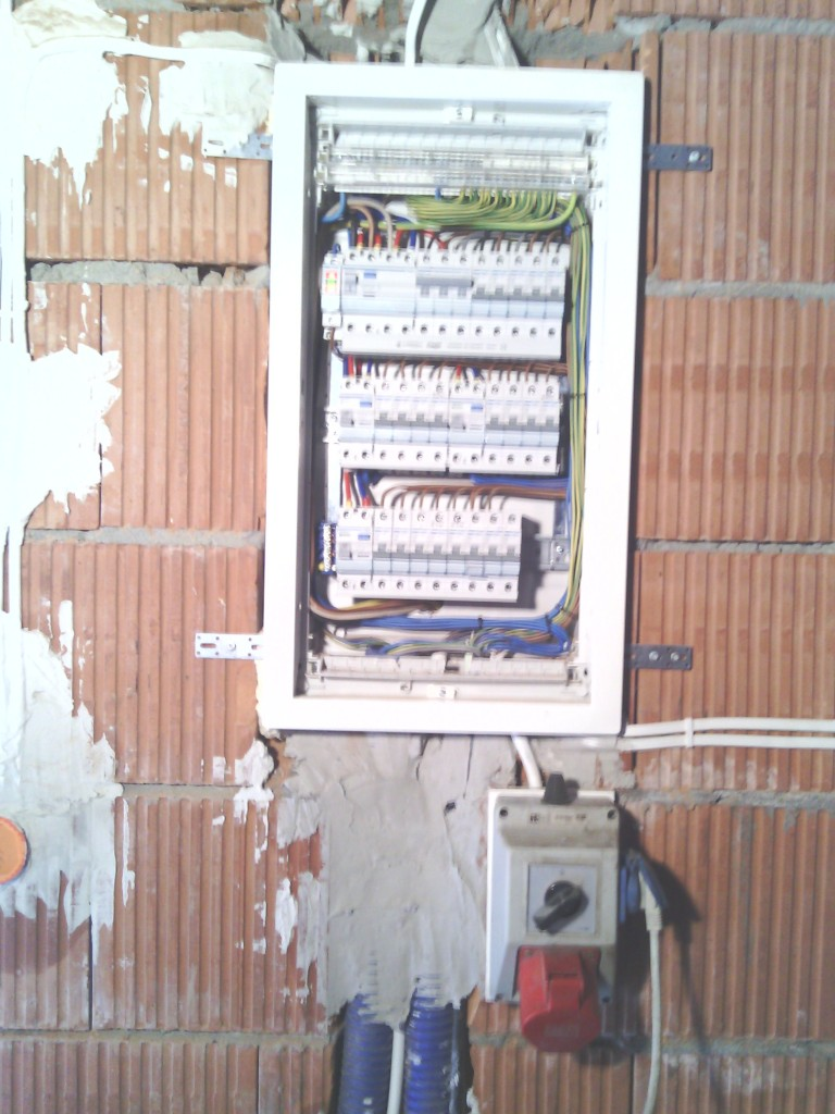 Rozdzielnica + dodatkowe gniazdko 400 V na czas budowy